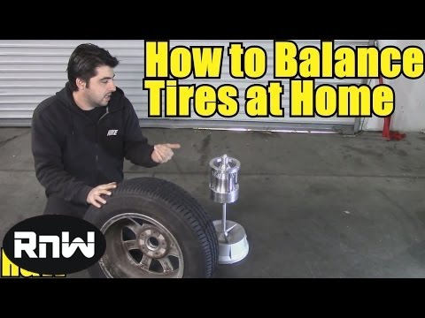 How to Balance a Tire Yourself - Using a Bubble Balancer by Harbor Freight