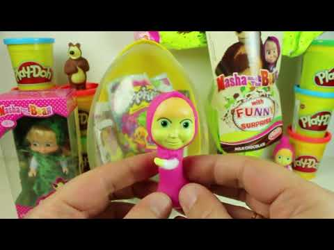 Masha and the Bear - Huge Egg Surprise Full of Toys