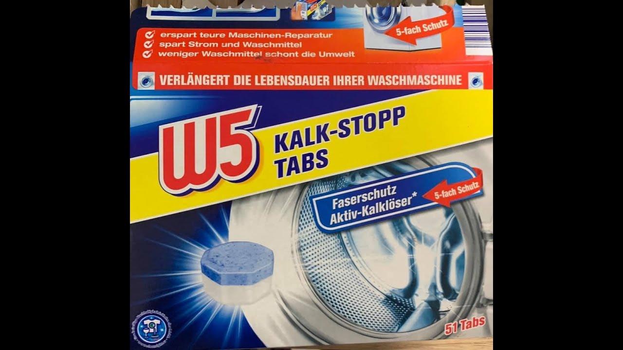Anwendung waschmaschine w5 tabs entkalker FAQ