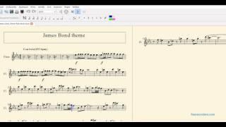 James Bond theme sheet music for flute Higher Octave