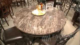 Standard Furniture Casual Dining Table with Marble Veneer - Factorydiningroom.com