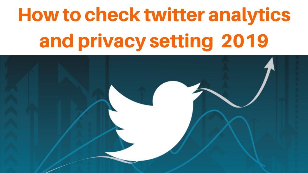 How to check twitter analytics and privacy setting 2019 | Digital Marketing Tutorial