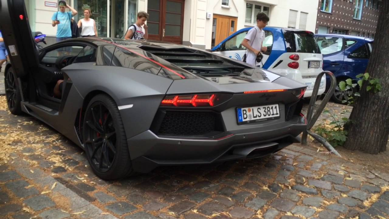 George Boateng With Kontra K In A Lamborghini Aventador Pirelli Edition Youtube