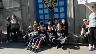 Shutdown at NYPD 1st Precinct Video 2 #FreedomNow
