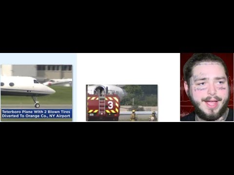 """Plane carrying Post Malone makes emergency landing in NY Post states """" I need a beer"""".."""