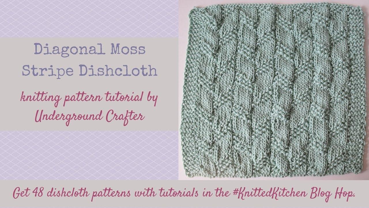 Knitting tutorial diagonal moss stripe stitch dishcloth youtube knitting tutorial diagonal moss stripe stitch dishcloth bankloansurffo Image collections