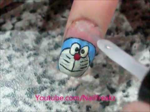 Doraemon Nail Art Tutorial Youtube