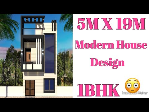 5m-x-19m-,-modern-house-plan-,-3d-elevation-,-interior-design-living-area-,-1bhk-,-house-map-design