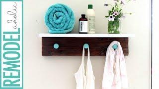 Cute Wall Shelf DIY Decorative Hooks Tutorial