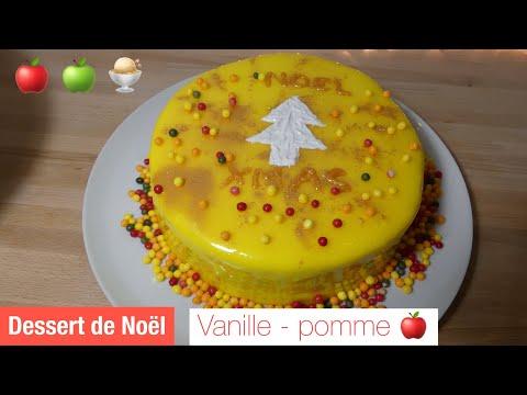 recette-dessert-de-noel---vanille-pomme-🍎-recette-glaÇage-miroir-jaune