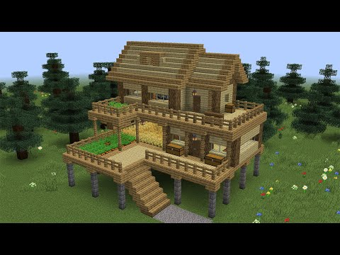 Minecraft – How to build a tall survival house