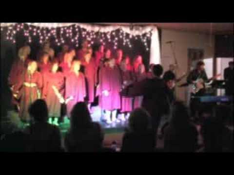 Bob Hanson with the Freedom Singers Gospel Choir
