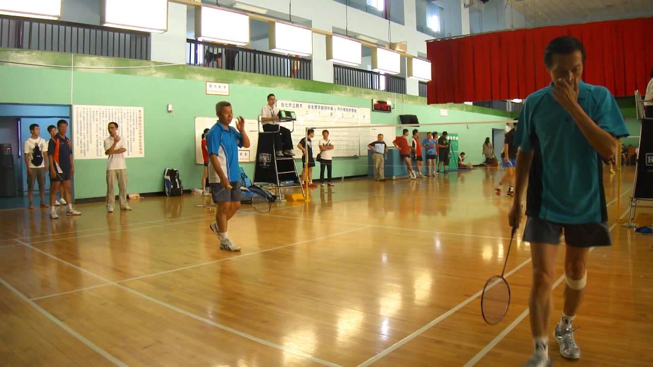 20120923FUMA Badminton 50MD中正盃羽球賽張文松+黃正龍VS郭易常+程文得 - YouTube