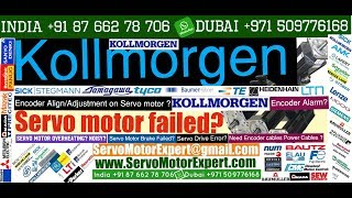 Kollmorgen Repair servo Drive motor encoder problems how to check servo motor Resolver Sick Stegmann