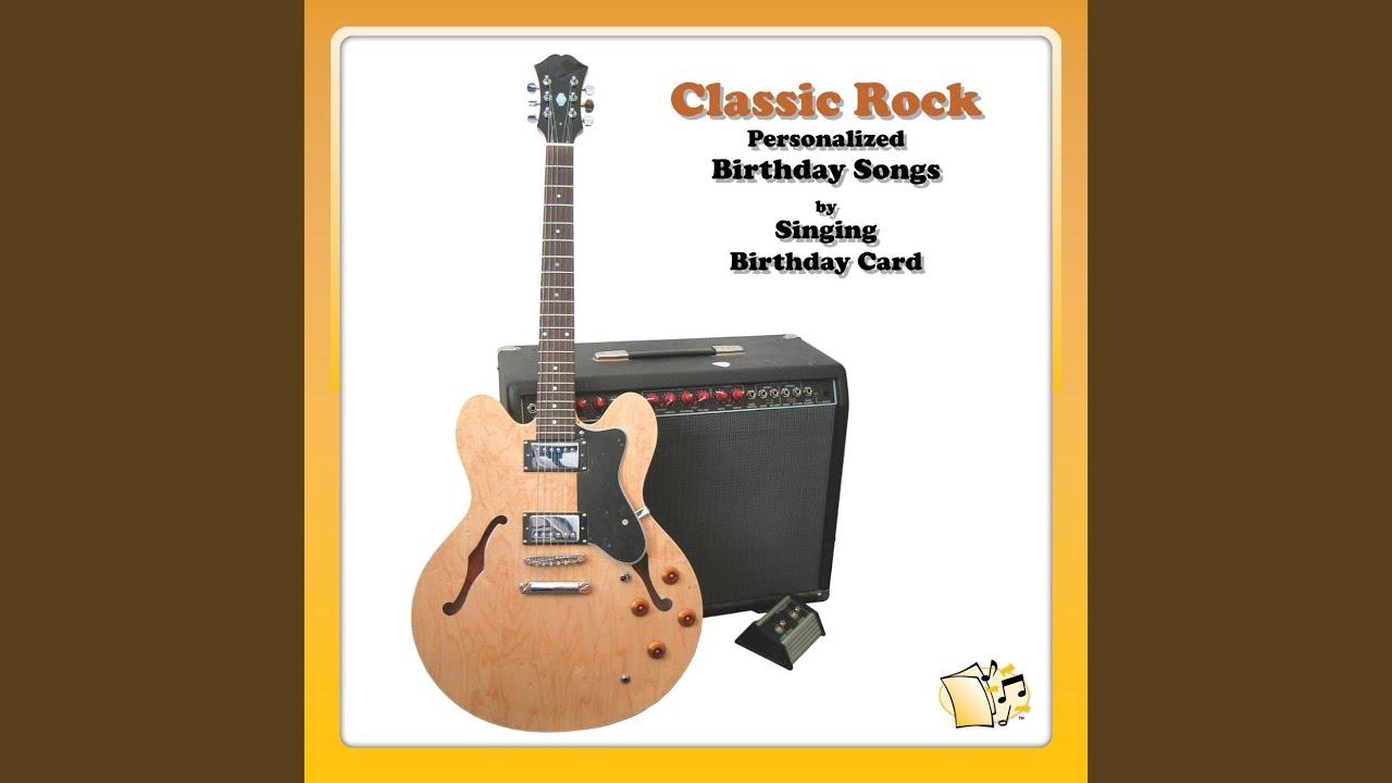 Happy Birthday Christine Classic Rock Singing Card