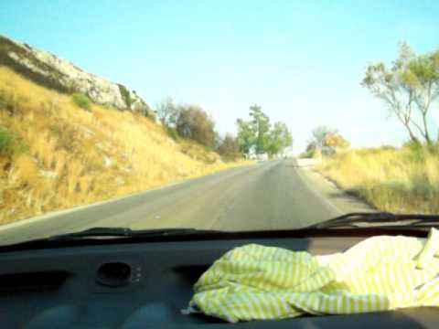 Driving uphill in Corfu