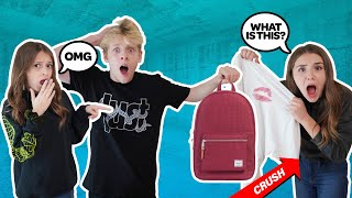 My CRUSH REACTS To WHAT'S IN MY BAG CHALLENGE **PRANK GONE WRONG** | Lev Camero, Piper Rockelle