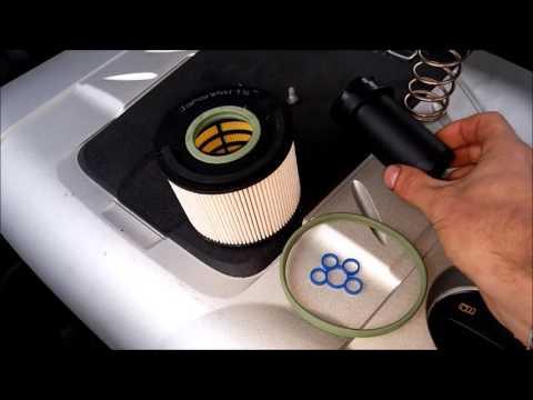 002 замена топливного фильтра audi,vw 3.0tdi 4,2 tdi