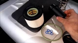#002(1) замена топливного фильтра audi,vw  ( 3.0tdi 4,2 tdi )