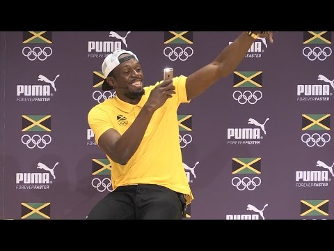 Press Conference With Usain Bolt In Rio