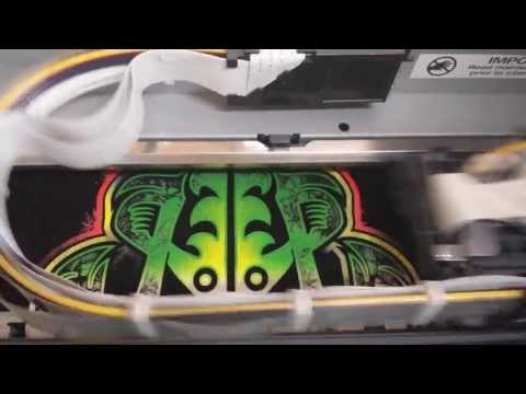 Island Ink Maui - Rasta Surfboard and Hooks design - Using our DTG Printer