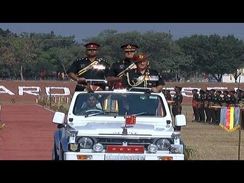 Army Chief awarding President's presentation to 47-armed regiment at Sunjwan, Jammu