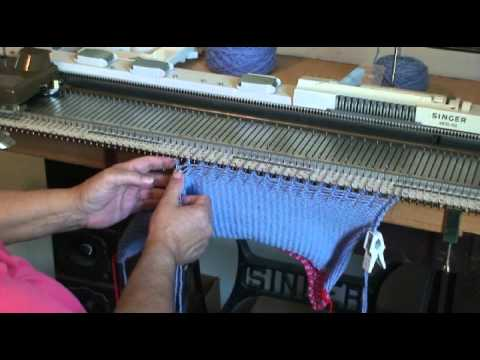 Another Hat using the Intarsia Carriage for a Fair Isle Brim - YouTube