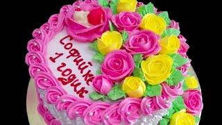 Украшение торта для девочки на годик Наталья Торт Sweet stories