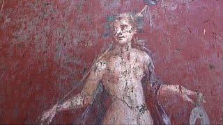 İtalya'nın antik kenti Pompeii'de Narkissos freski bulundu