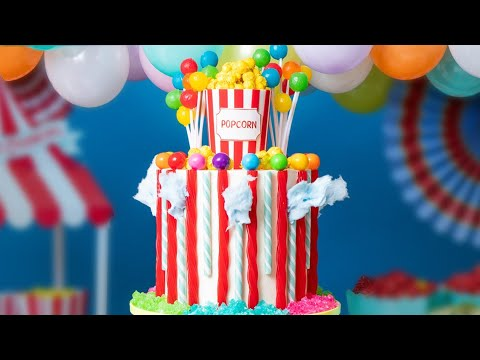 carnival-mega-cake!-|-cotton-candy,-popcorn,-lollipops...-|-how-to-cake-it