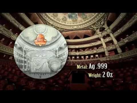Paris Palais Garnier 2014 Famous Opera Crystal Series Palau Silver Coin