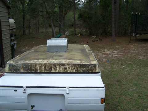 Coleman Pop up Roof Repair - YouTube