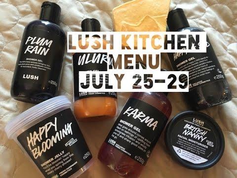 Lush Kitchen Menu July 25-29 - YouTube