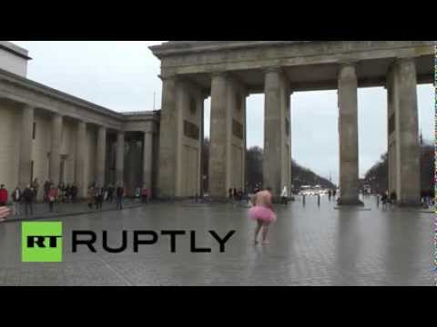 Germany: Man in Pink Tutu hits Berlin for breast cancer awareness