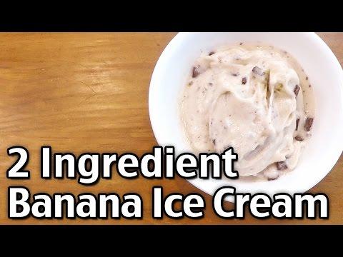 2 Ingredient Banana Chocolate Chip Ice Cream