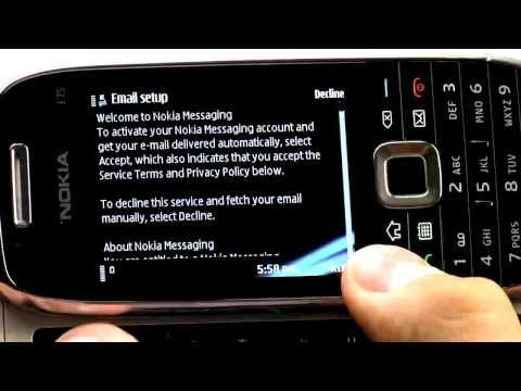 Nokia E75 - Tutorial zur Einrichtung von mobilen E-Mail-Diensten wie Nokia Messaging