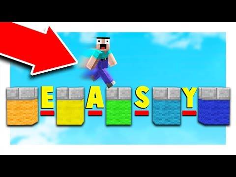 WORLD'S EASIEST MINECRAFT PARKOUR MAP!