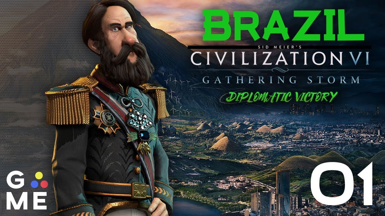 Deity Brazil - Seven Seas Map - June 2019 Update   Civ - Gathering Storm    Episode 1 [Barbs]