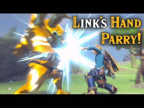 Link's HAND PARRY! Cancel Parry with Bombs in Zelda Breath of the Wild