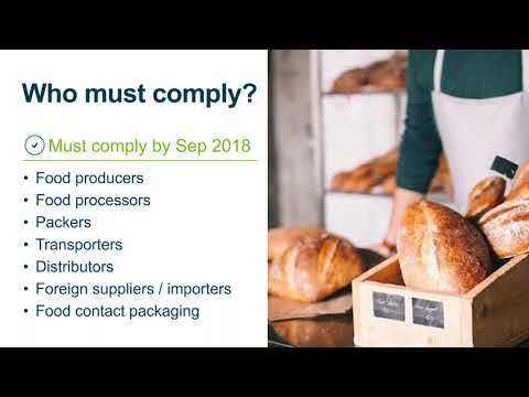 FSMA for the Food Industry Webcast