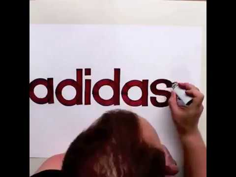 Daily Art - Drawing famous logos Most Satisfying Video Calligraphy! HIGH - رسم لوغو لشركات مشهورة