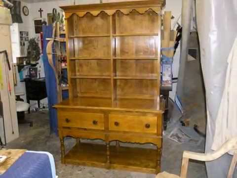 Restoration antique bookshelf.  MADADAR-Naples FL.