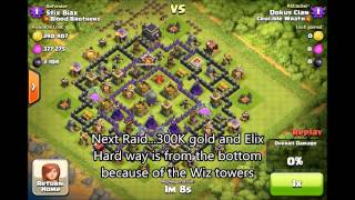 Clash of Clans - Top players Epic farm vid at 3800 cups taking 6k DE and the win