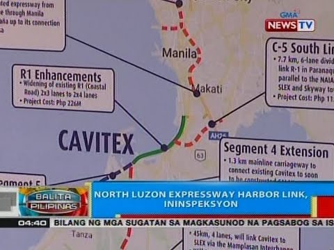 BP: North Luzon Expressway harbor link, ininspeksyon