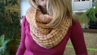 як зробити шарф хомут зі старого шарфа