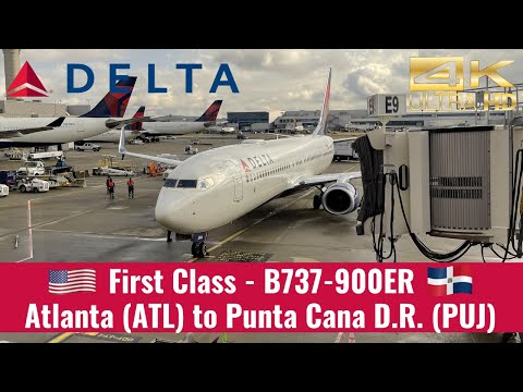 Delta Airlines | B737-900ER | First Class | Atlanta (ATL) To Punta Cana, Dominican Republic (PUJ)