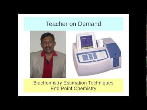 End Point Reaction in biochemistry