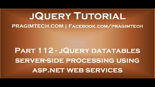 jQuery Datatables Server Side Processing Using ASP.NET Web Services