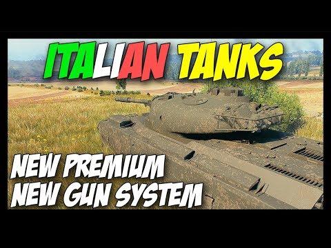 ► ITALIAN TANKS + New Gun System! - World of Tanks 2018 News
