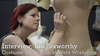 Weta Costume Technician Flo Foxworthy On The Major's Thermoptic Suit